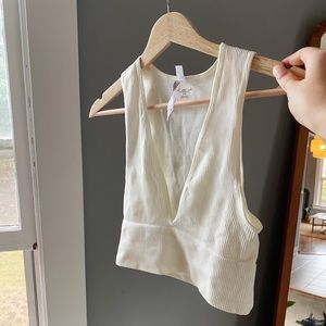UO Out From Under Hailey Seamless Plunging Bra Top